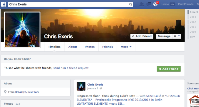Chris Exeris / Chris Sevanick doesn't publicly advertise he's in an adulterous relationship with Ania Ziolkowska