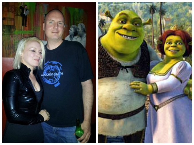 Ania Ziolkowksa / Ania Anicca & Chris Exeris of Mindless Faith & Grains of Sound really do look like Shrek & Fiona, don't they?